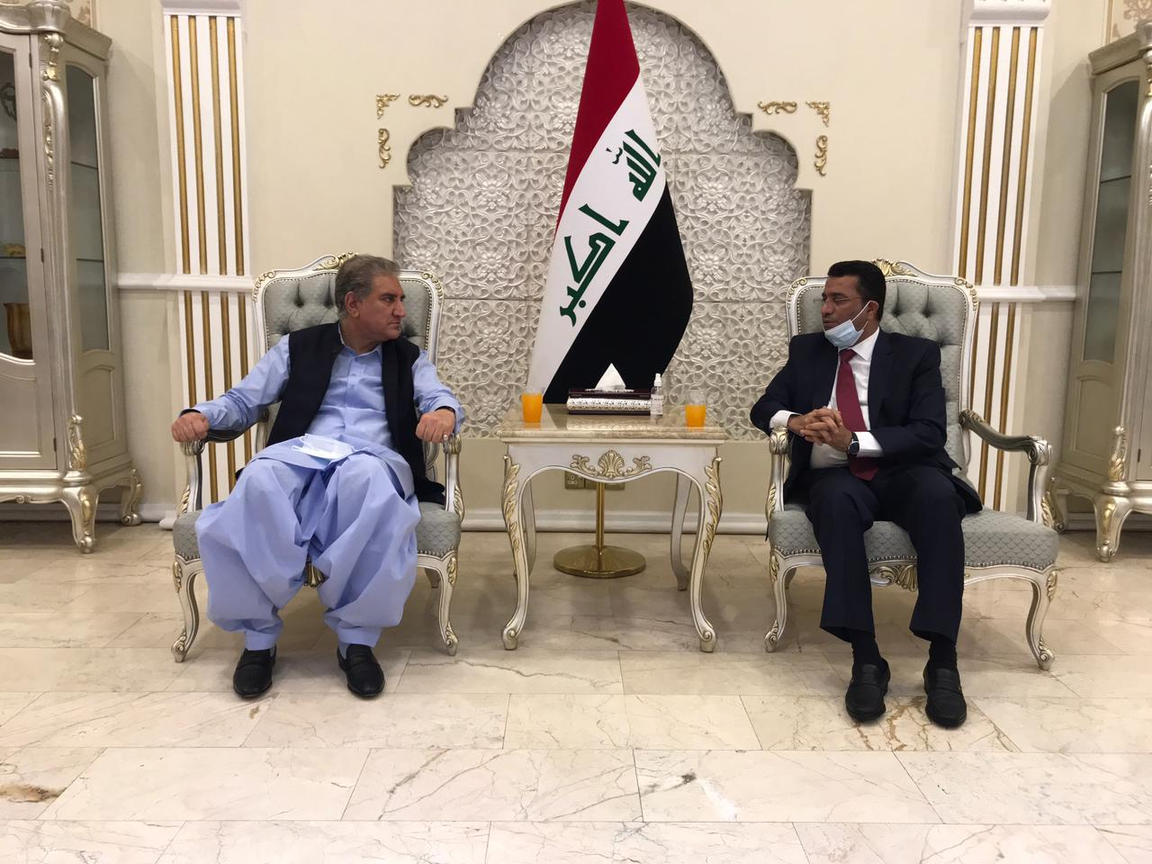 Pakistani Minister of foreign affairs arrives in Baghdad