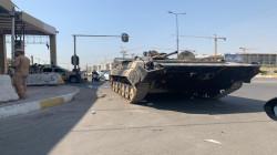 انسحاب الآليات العسكرية من جنوبي بغداد