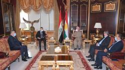 Leader Barzani hosts el-Eidani and Aras Habib in Erbil