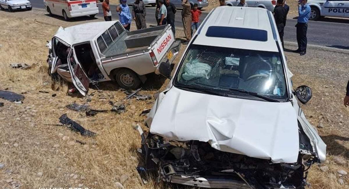 مصرع وإصابة 4 أشخاص من عائلة واحدة بحادث سير جنوبي بغداد