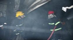 7 فرق تسيطر على حريق سوق الرضوي ببغداد