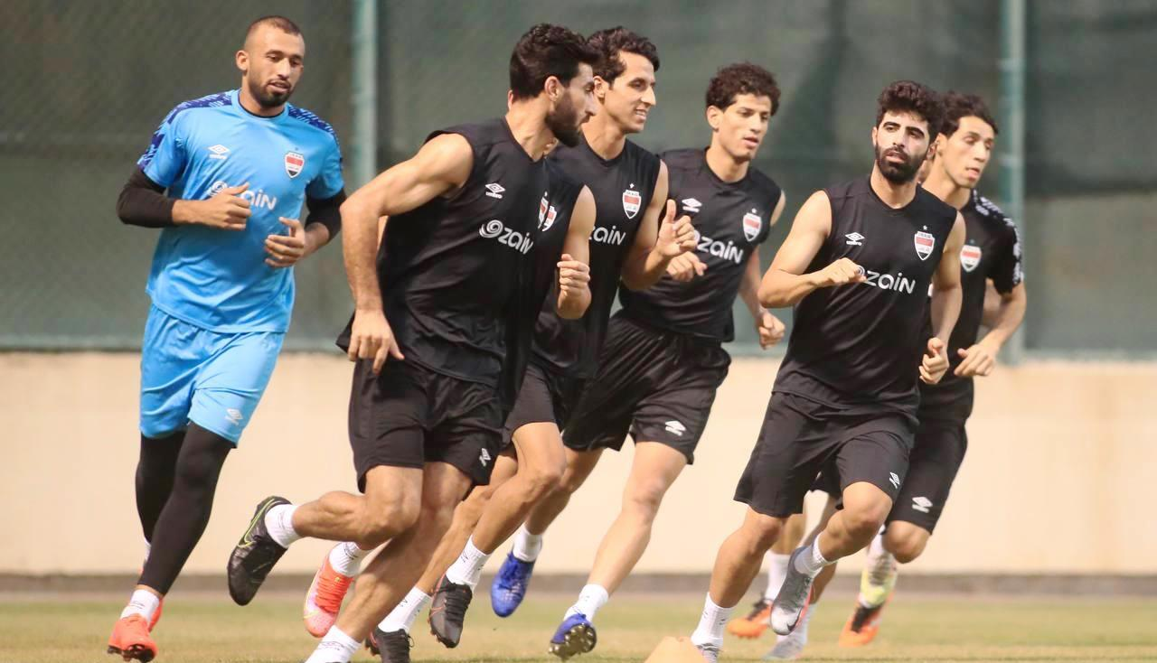 """صور.. المنتخب العراقي ينهي وحدته التدريبية """"ما قبل الأخيرة"""" استعدادا لمباراة كمبوديا"""