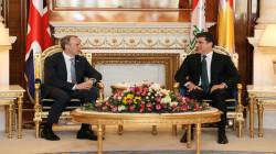 وزير الخارجية البريطاني يصل إلى أربيل ويجتمع مع نيجيرفان بارزاني (صور)