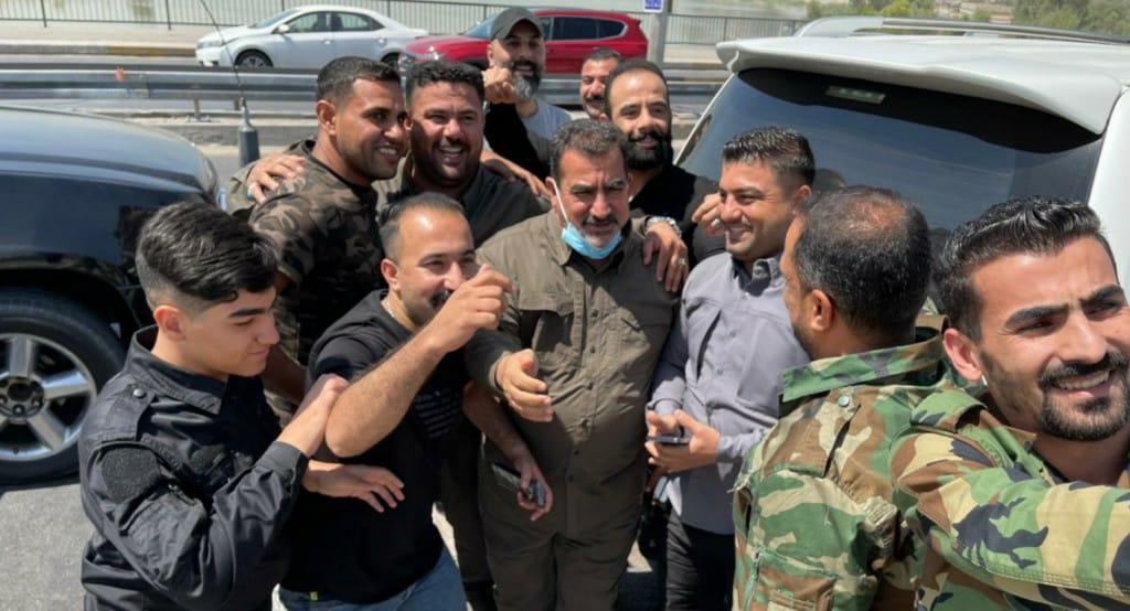 أول ظهور لقاسم مصلح بعد إطلاق سراحه (صور) : صحافة الجديد اخبار عربية