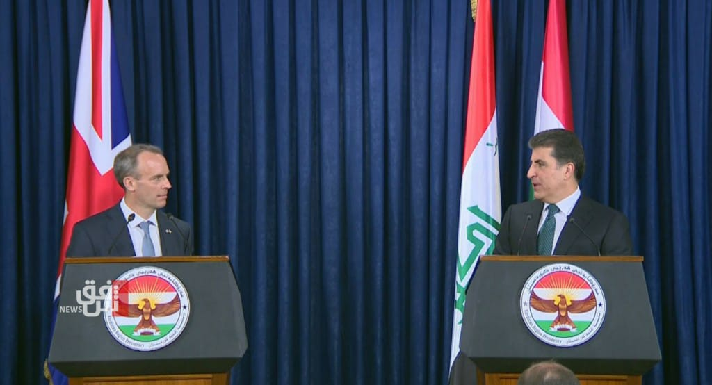 President Barzani praises UK's role in establishing the no-fly zone