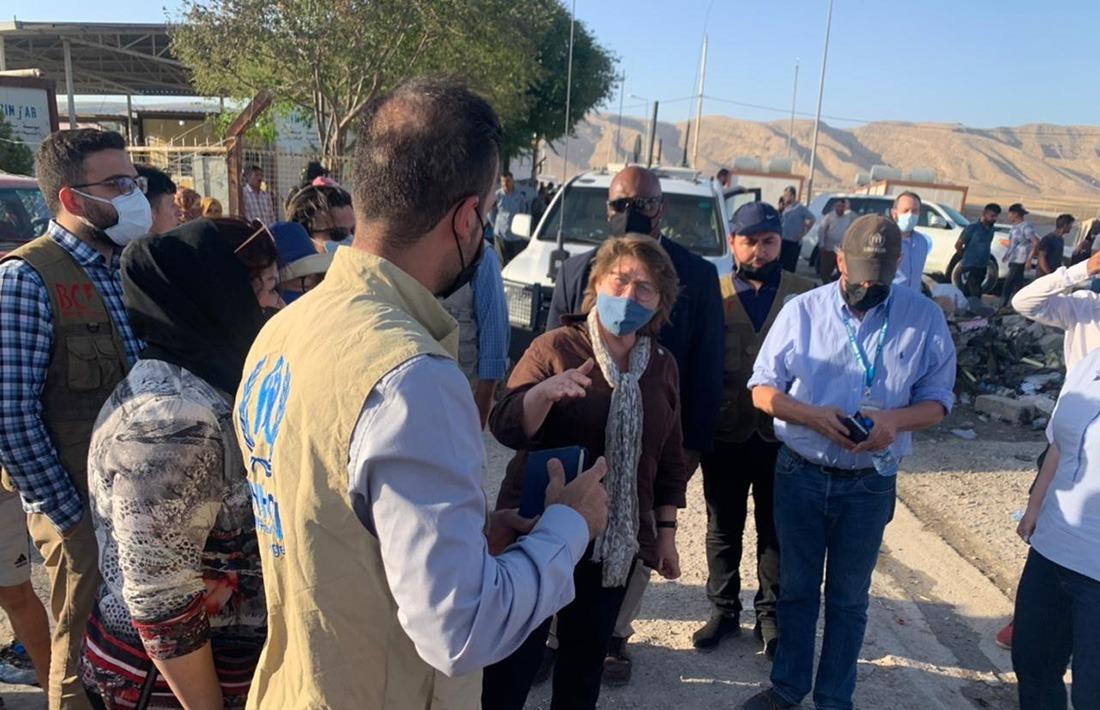 UNHCR delegation visits the Shariya camp in Duhok