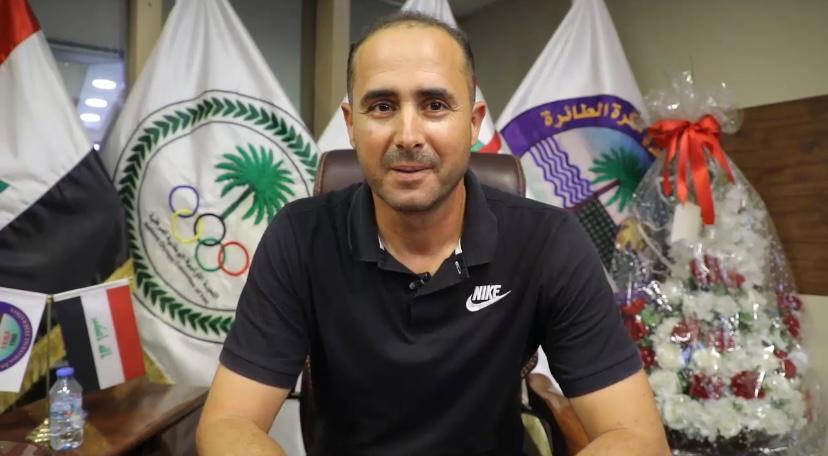 المدرب التونسي صبري عبد الواحد يباشر بمهمته مع ناشئين العراق للطائرة