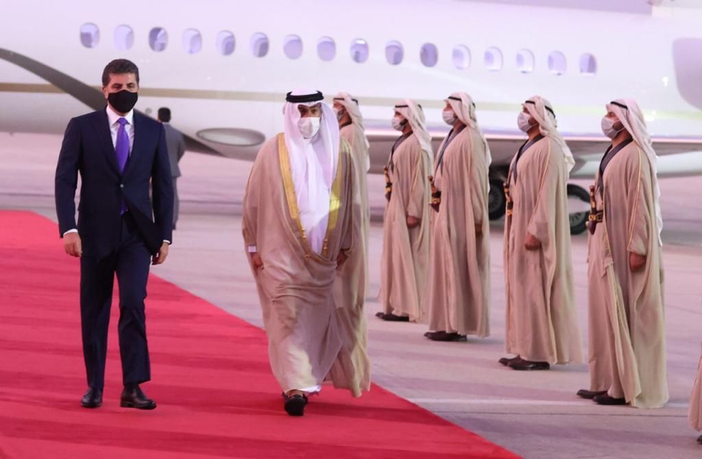 President Barzani arrives in Abu Dhabi