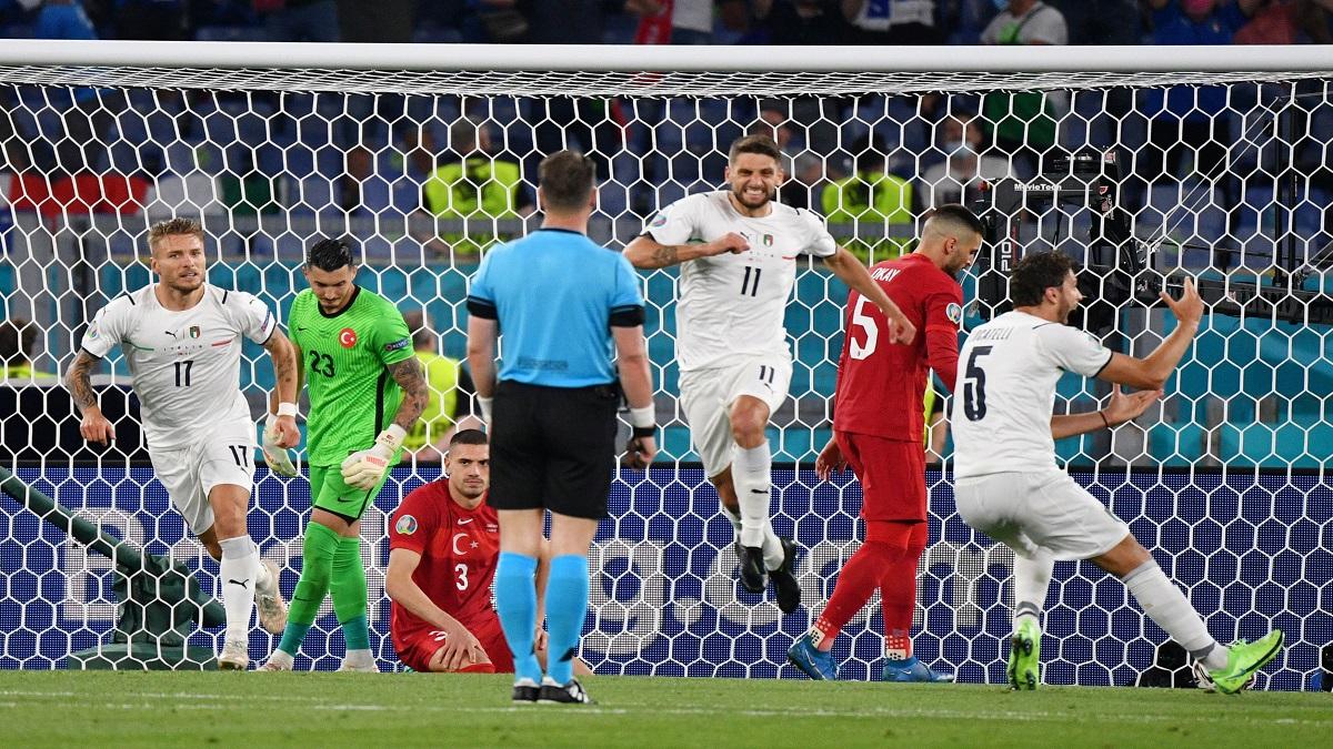 إيطاليا تهزم تركيا بثلاثية نظيفة في افتتاح كأس الأمم الأوروبية
