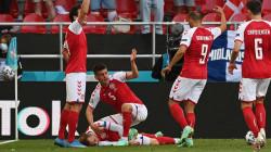 """إيقاف مباراة الدنمارك وفنلندا إثر سقوط """"مفزع"""" لأحد اللاعبين"""