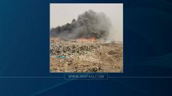 حريق كبير يلتهم معمل تدوير النفايات جنوبي ذي قار