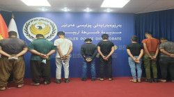 Eight arrested in Erbil on charges of theft