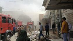 حريق هائل يأتي على مخازن وبنايات بينها مول ومدرسة في النجف