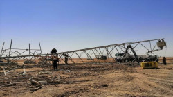 Unknown assailants attack power transmission towers causing a blackout in three governorates