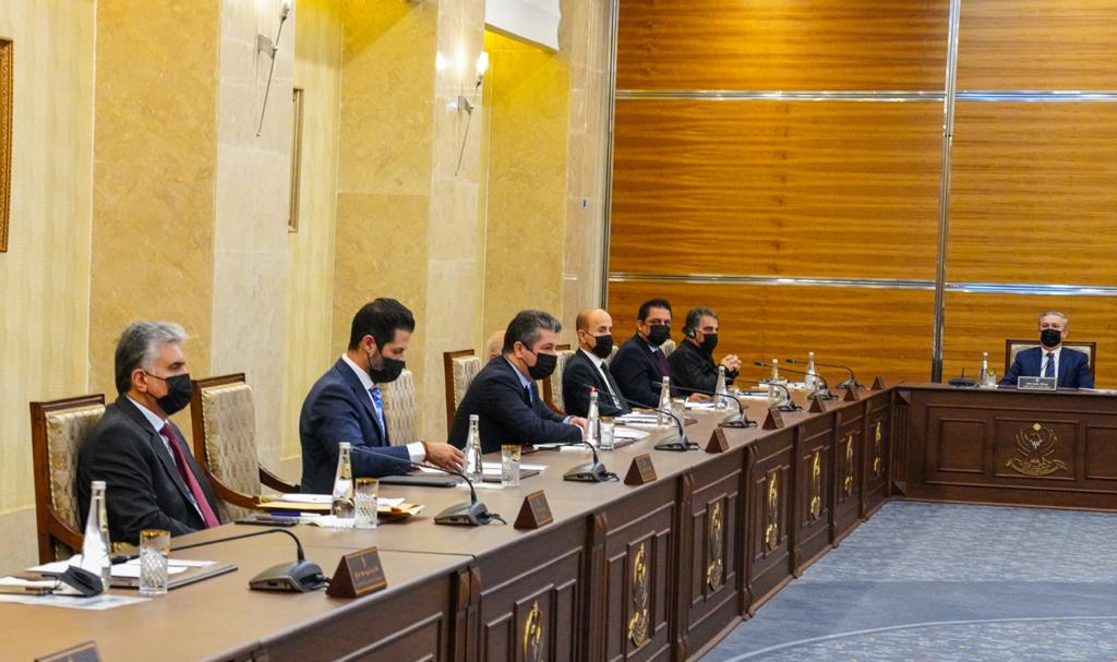 """حكومة كوردستان تناقش مجموعة ملفات بينها """"الموازنة وعودة الدوام الرسمي"""""""