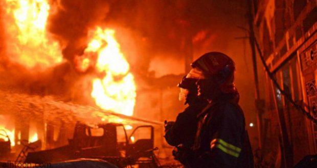 اندلاع حريق في المنطقة الصناعية بالسليمانية