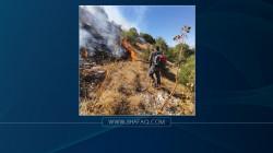 """صور .. حريق """"كبير"""" يلتهم عشرات الدوانم من الأراضي في السليمانية"""