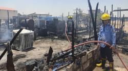 صور .. حريق يأتي على خيام للاجئين السوريين في أربيل