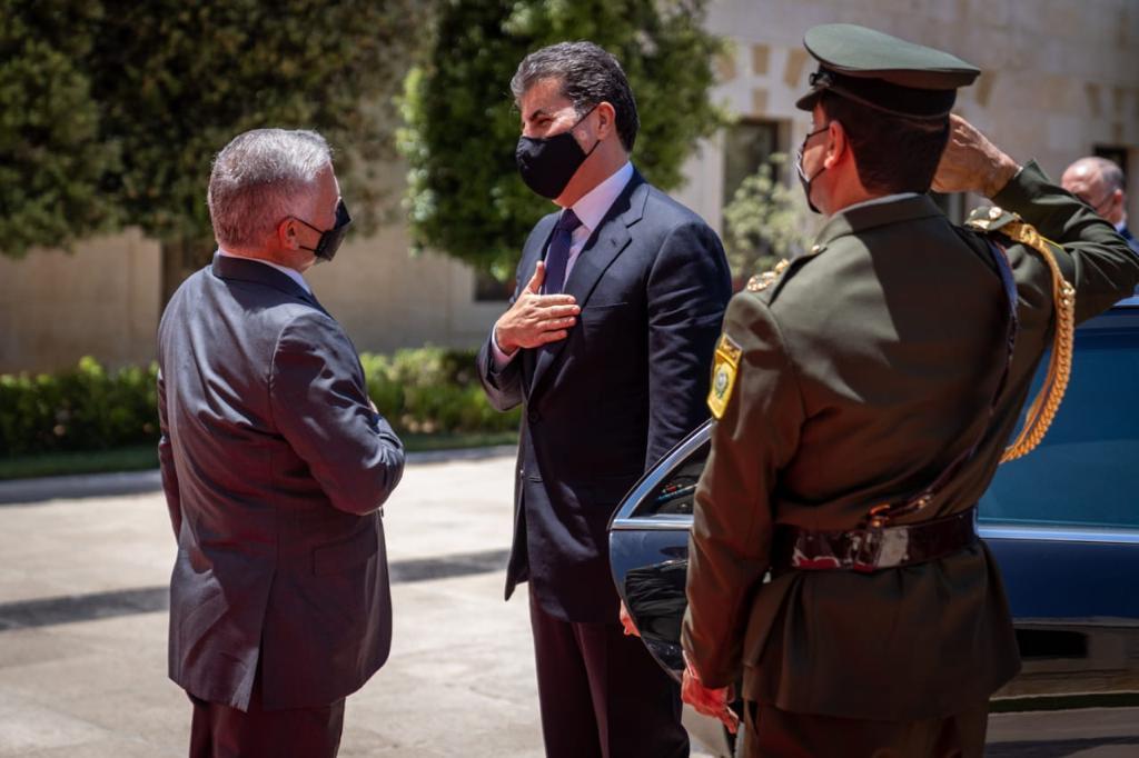 رئيس إقليم كوردستان يجتمع مع العاهل الأردني في عمّان .. صور