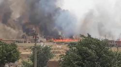 Turkish attacks cause massive fire north of Duhok