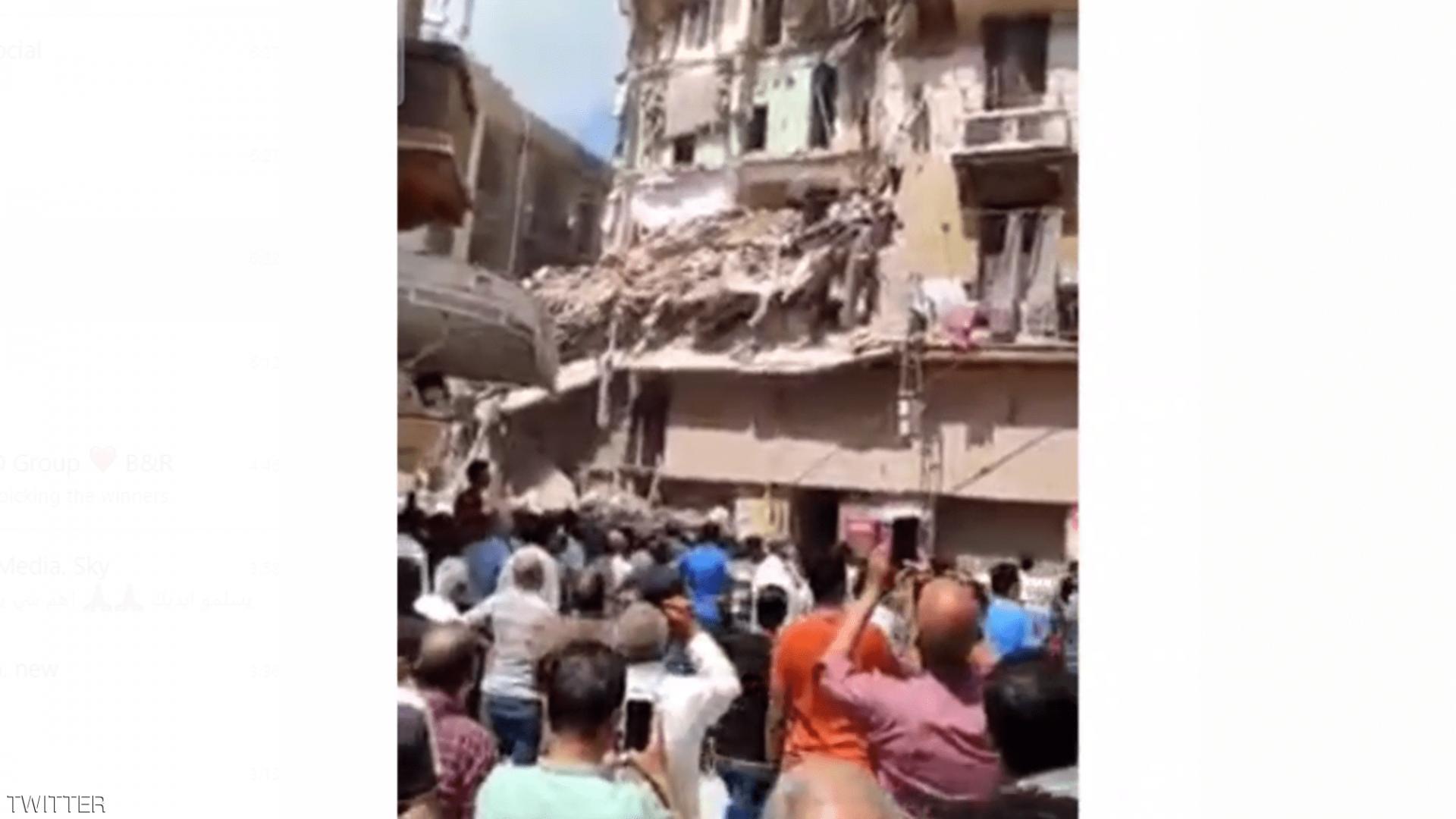 مصر.. انهيار مبنى مأهول بالسكان والبحث عن مفقودين