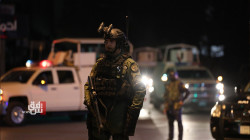 A heavy deployment of Iraqi security forces in central Baghdad