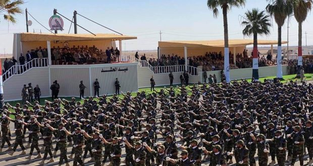 Attended by al-Kadhimi, PMF holds a military parade in Diyala