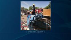 اندلاع حريق في مخزن للمناديل الورقية في بغداد والدفاع المدني يستنفر
