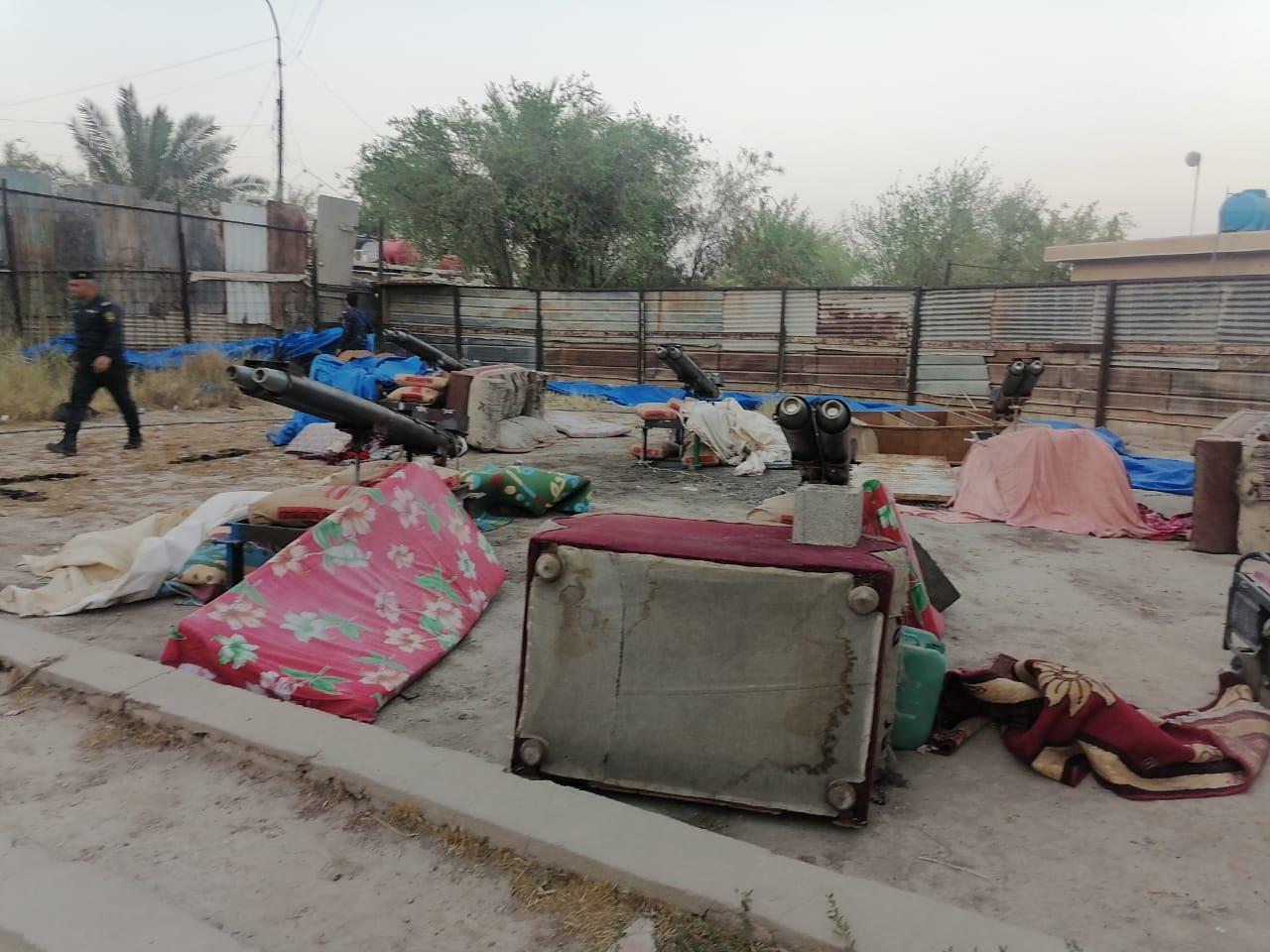 احباط عملية لاستهداف مطار بغداد بـ10 صواريخ غراد