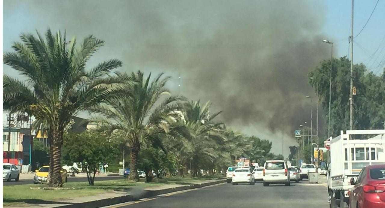 اندلاع حريق في مبنى حكومي بشارع الرشيد ببغداد