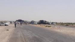 Angry protestors wave Diyala Governorate