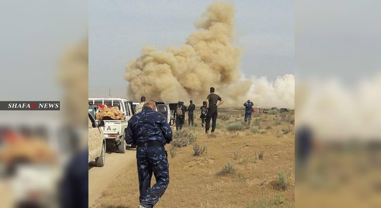 إصابة عنصرين بالحشد بانفجار غربي الأنبار