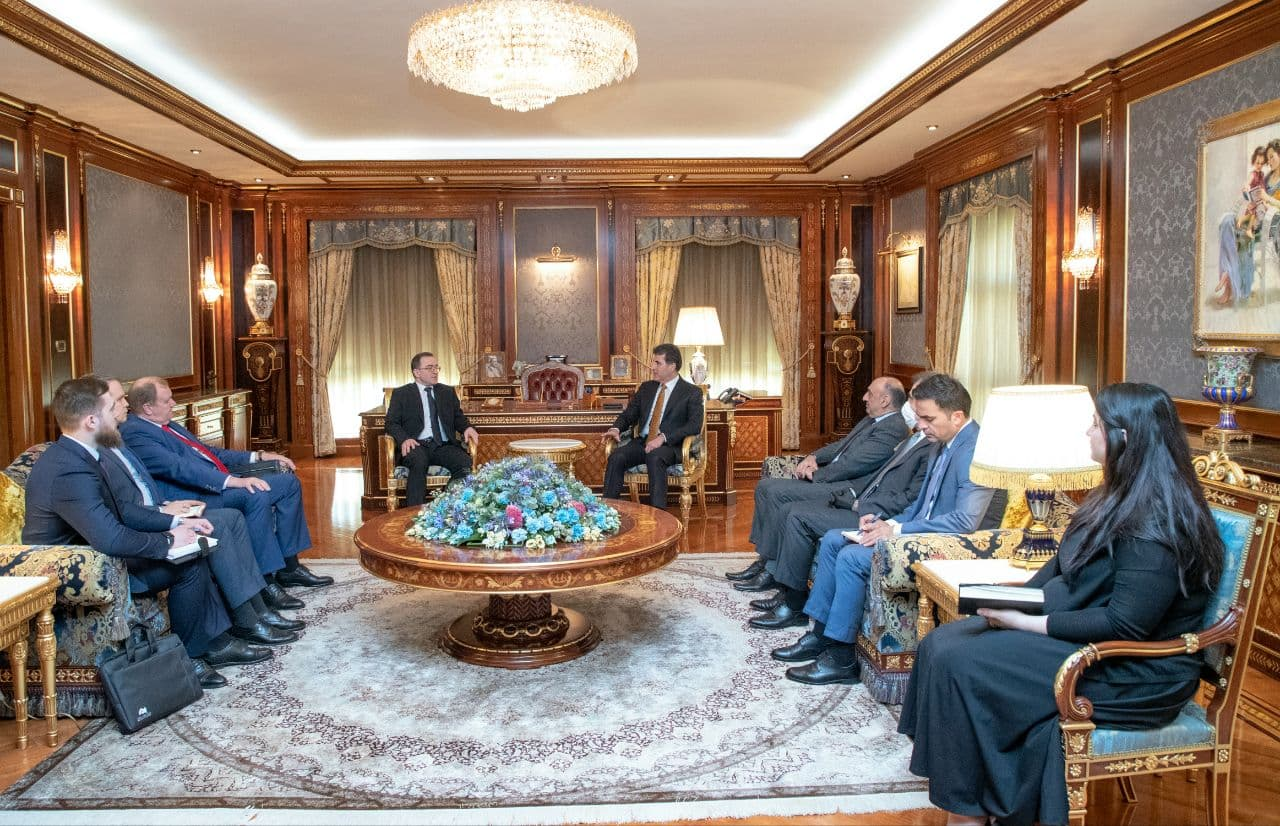 Kurdistan's President receives the Russian ambassador to Iraq