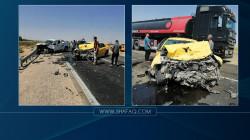إصابات حرجة بحادث مروع على طريق بغداد- كركوك