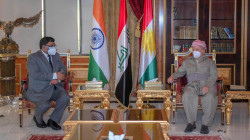 Leader Masoud Barzani meets the Indian ambassador to Iraq in Erbil