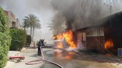 اندلاع حريق كبير في منطقة الكرادة وسط بغداد.. صور+ فيديو