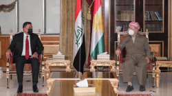 Masoud Barzani discusses security and political challenges in Iraq with a delegation of al-Azm Alliance