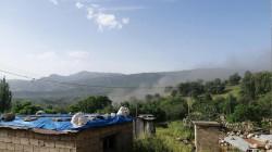 Turkish airforces strike sites on a mountain in Duhok