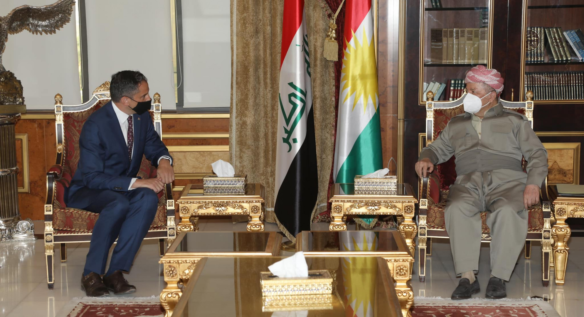 America informs Masoud Barzani of its concern about the security and political challenges in Iraq 1625996666342