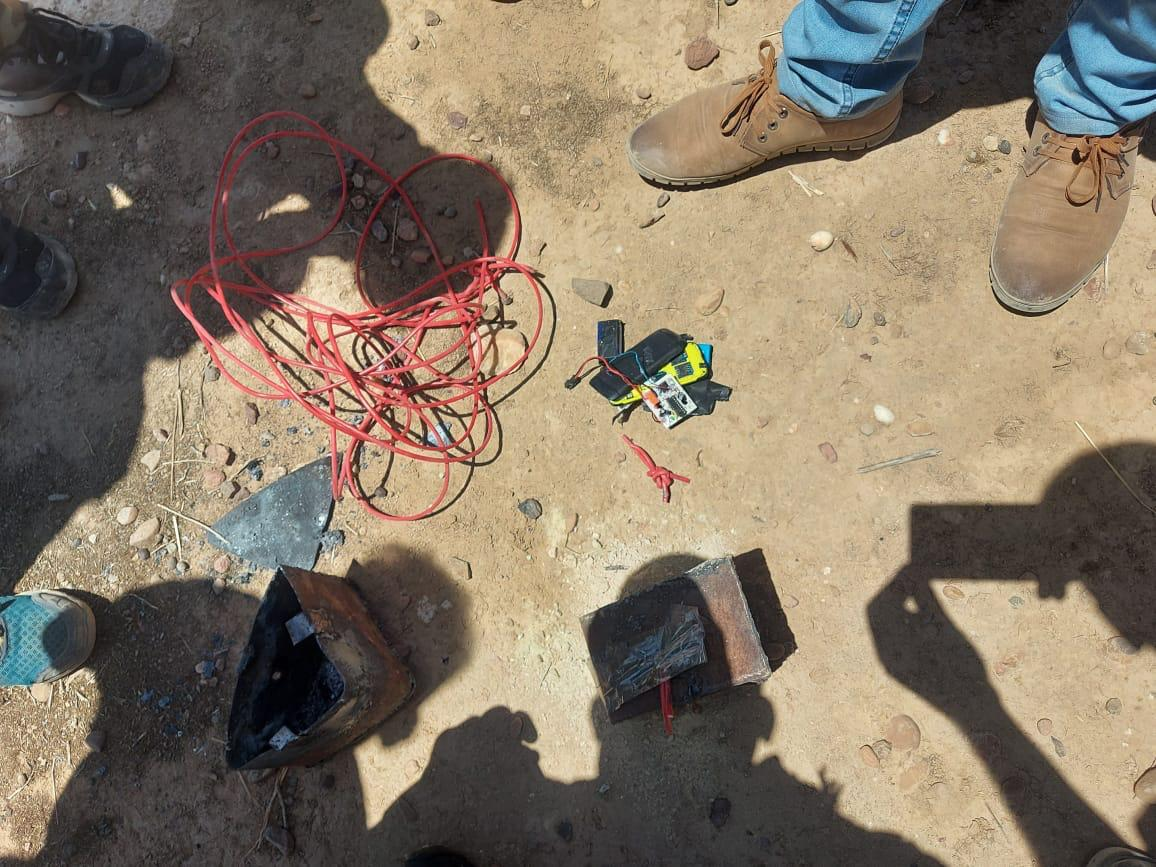 Security forces thwart an attempt to blow up a power transmission tower in Saladin