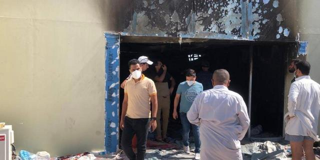 Iraq's Ministry of Health: the death toll in Imam Hussein teaching Hospital fire rises to 60 victims