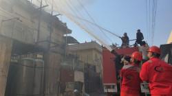 صور.. الدفاع المدني يعلن اخماد حريق جديد في بغداد