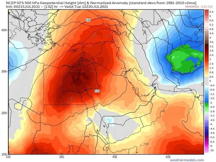 موجة حر لاهب تنتظر العراقيين الاسبوع المقبل