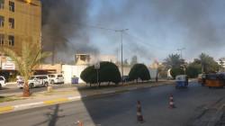 اندلاع حريق داخل مقر قيادة عمليات كربلاء (فيديو)