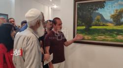 صور.. فنان كوردي يقيم معرضاً يحاكي الطبيعة وجمالها في كركوك