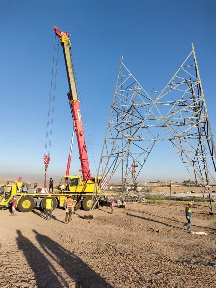 صور .. البدء بربط شبكة الكهرباء بين العراق وتركيا عبر إقليم كوردستان