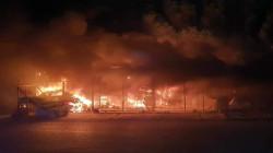 حريق في قاعدة الامام علي في ذي قار