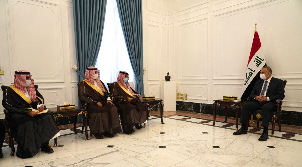 Al-Kadhimi discusses with Saudi Minister of Commerce cooperation between Baghdad and Riyadh