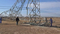 A power transmission tower targeted in al-Anbar