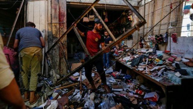 Barham Salih condemns the Sadr City attack..al-Kaabi warns of the timing and location 1626728760706